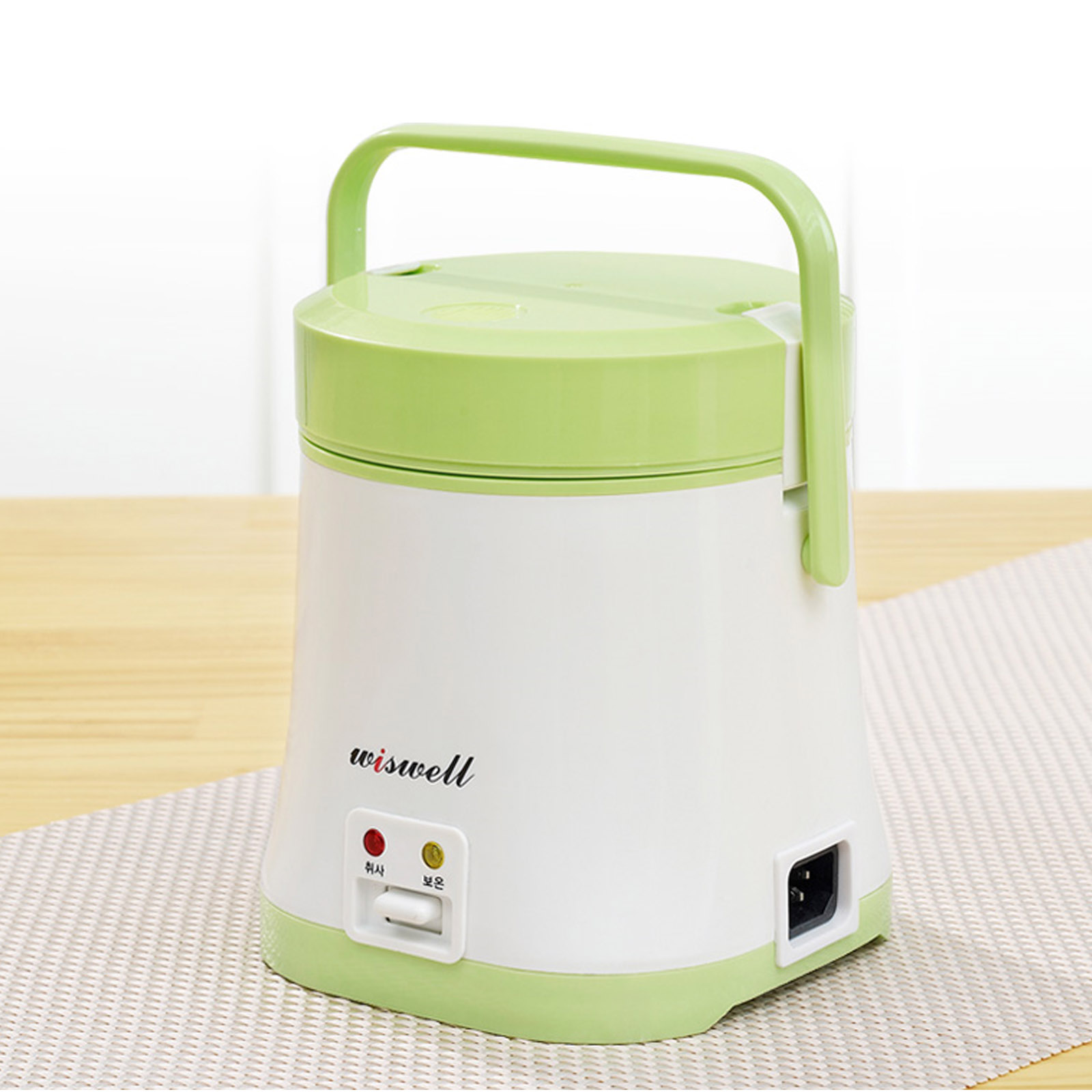 wiswell electric mini rice cooker bento rapid cooking portable thermal lunch. Black Bedroom Furniture Sets. Home Design Ideas