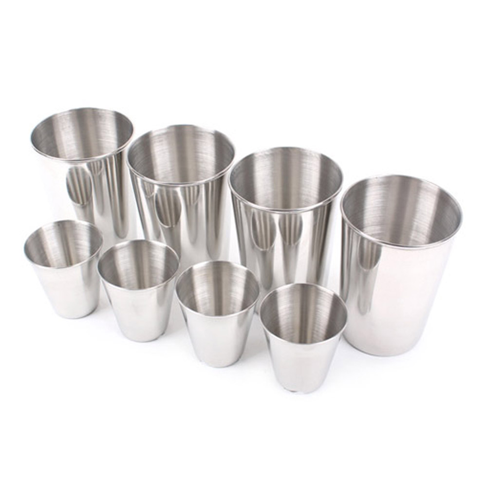 4Pcs Stainless Steel Outdoor Travel Camping Cup Drinking Mug Beer Tea 6L