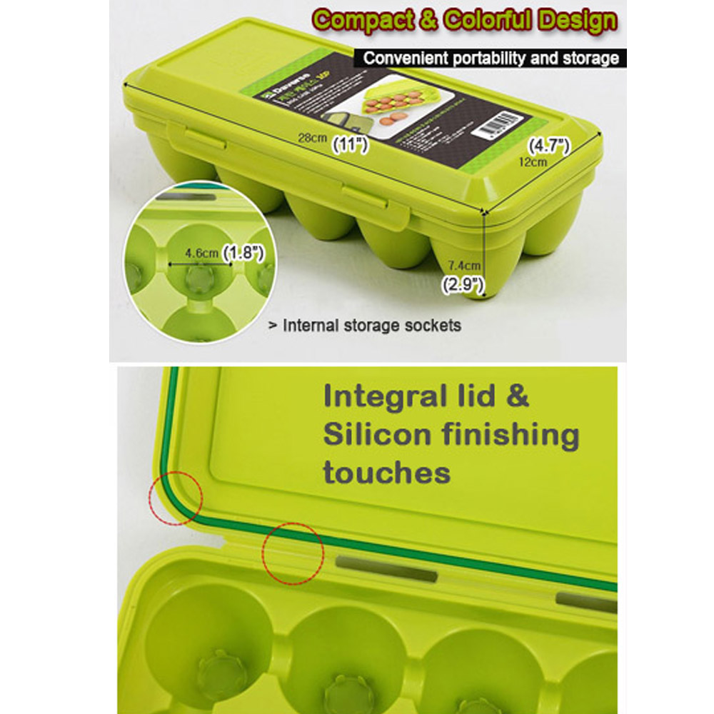 Outdoor Portable EGG Storage Container 10egg Case Food Holder Keep