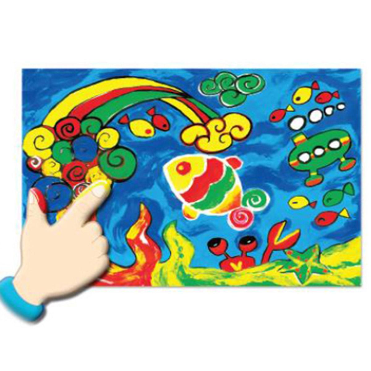 Details zu MUNGYO Finger Paint Water Color 100g x 8 Colors Kids Picture  Play Face Painting