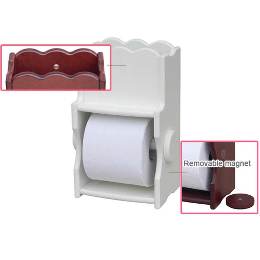 Shelf Type Toilet Paper Holder Roll Tissue Rack Wall