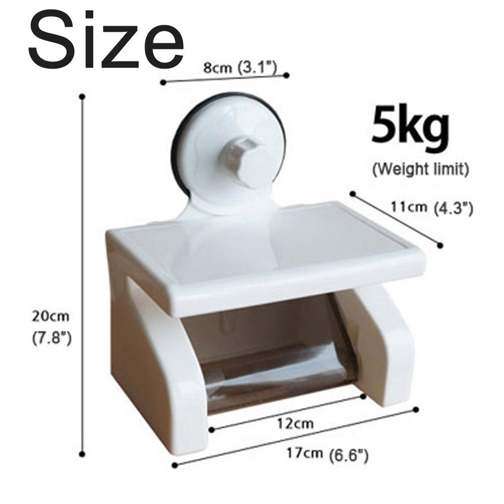 Multipurpose Roll Toilet Paper Holder Storage Box Wall
