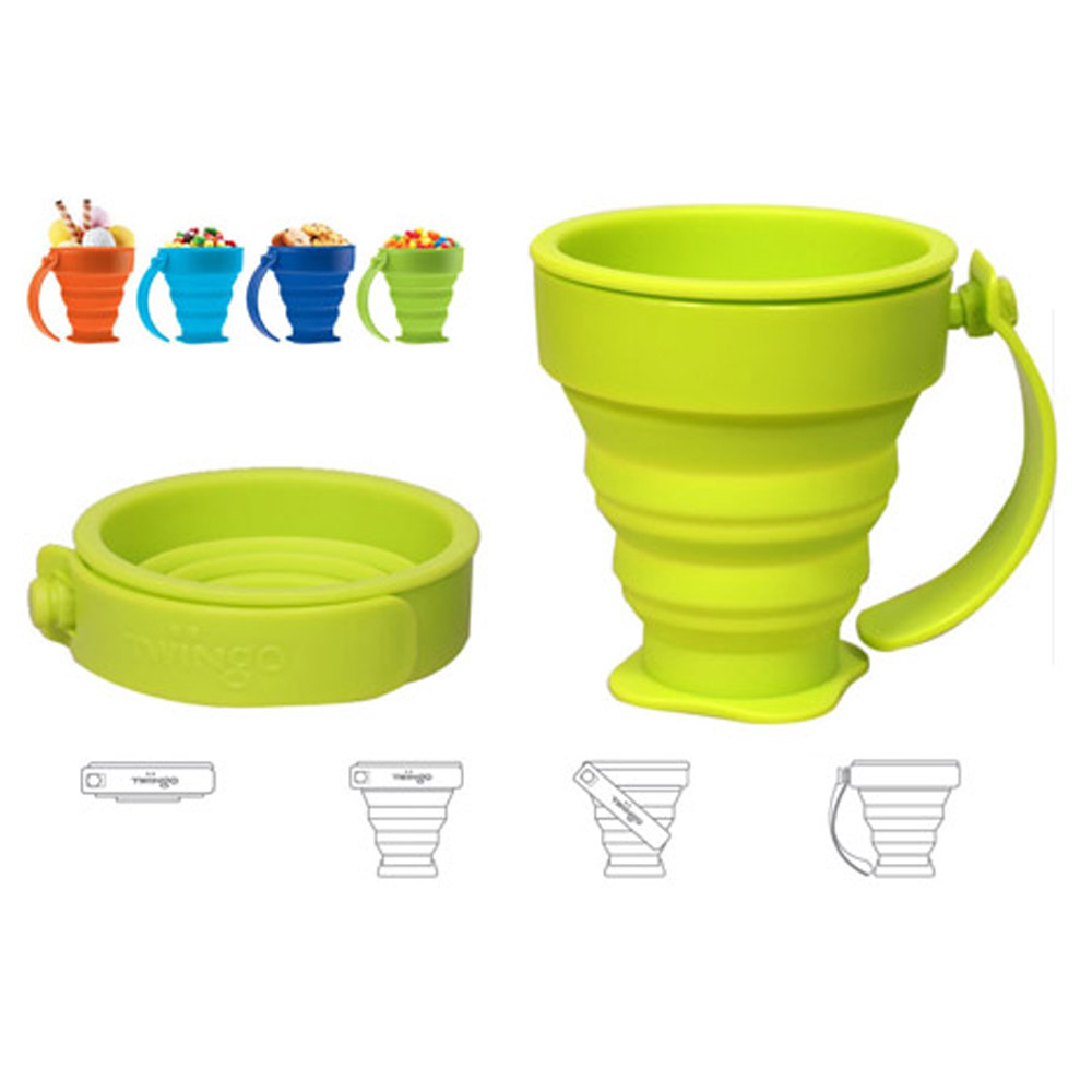 Pet 400ml Portable Filter Travel Cups Drinking Bowls Dog: Stylish Silicone Folding Cups Travel Camping Home Coffee