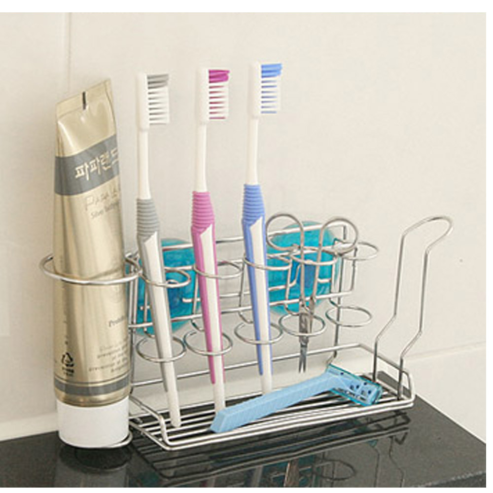 Toothbrush Holder Wall Mounted 100/% Stainless Steel for 5 pcs