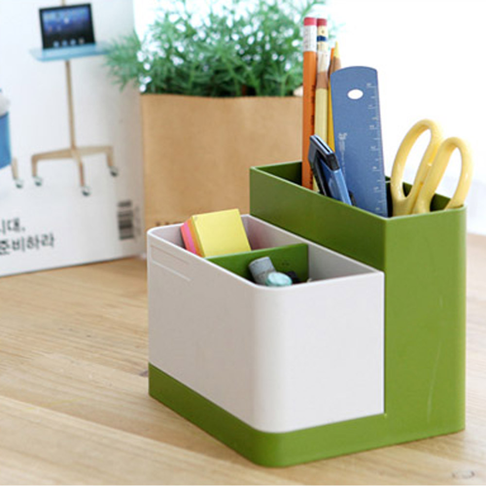 Unique Multi Purpose Pen Pencil Holder Desk Organizer Desktop Storage Box